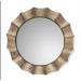 Gothum Round Decorative Mirror in Burnished Champagne Finish