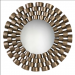 Taurion Three Dimensional Decorative Mirror w/Graduated Rows of Tubes in Distressed Silver Leaf/Black Finish